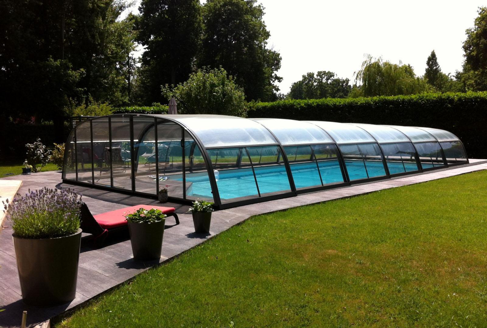 abri mi-haut piscine confort
