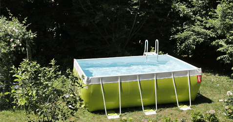 Photo de piscine hors sol autoportante Laghetto vert pomme