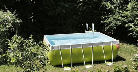 photo de piscine hors sol autoportante laghetto vert pomme - Amenager Une Piscine Hors Sol