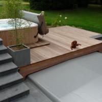 Aménagement de terrasse, pavage