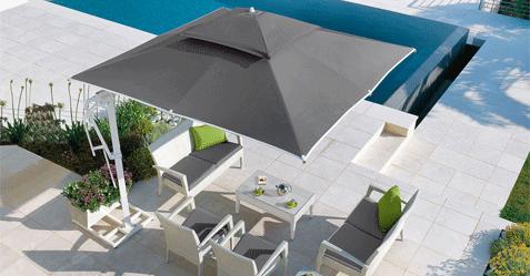 Parasol et équipements extérieurs de jardin pour le Nord 59