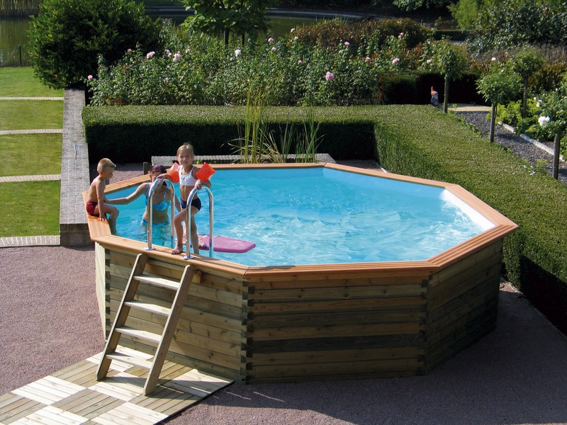 piscines en bois pour les jeux d 39 eau piscine jardin. Black Bedroom Furniture Sets. Home Design Ideas