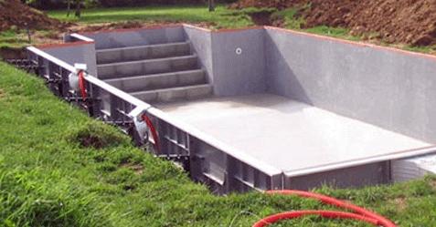 Structure de piscine EUROPISCINE en kit prêt à monter