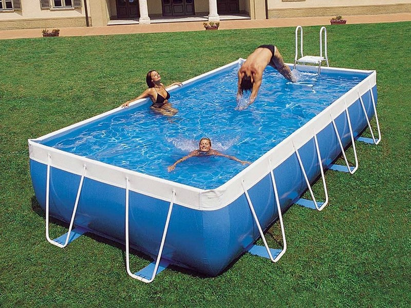 Piscine hors sol gonflable ou en kit petit prix Square swimming pools for sale