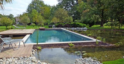Photo de piscine naturelle bi-eaux
