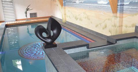 Photo de piscine carrelage
