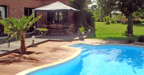 Photo de piscine à forme libre haricot