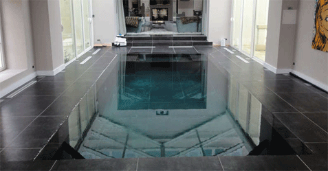 Photo de piscine miroir