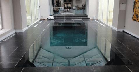 Photo de piscine miroir