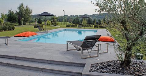 Photo de piscine rectangle contemporaine