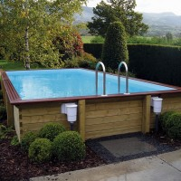 Piscine hors sol rectangle en bois – Gardipool