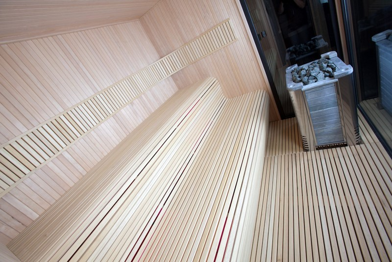 Sauna contemporain