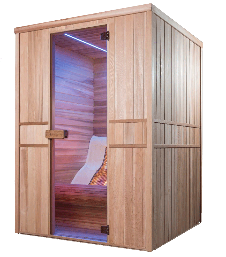 apportez modernit et relaxation votre domicile avec le sauna infrawave lounge piscine et jardin. Black Bedroom Furniture Sets. Home Design Ideas