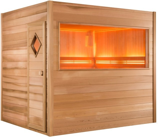 discret et pratique le sauna chaleur d 39 ext rieur. Black Bedroom Furniture Sets. Home Design Ideas