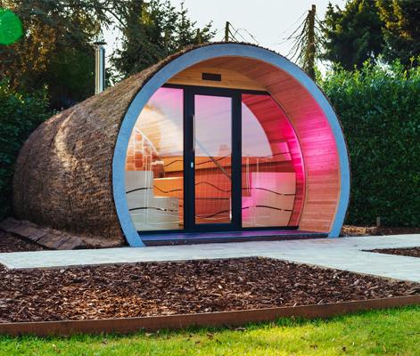 Extérieur du sauna XL Eclipse de votre magasin Piscine&Jardin