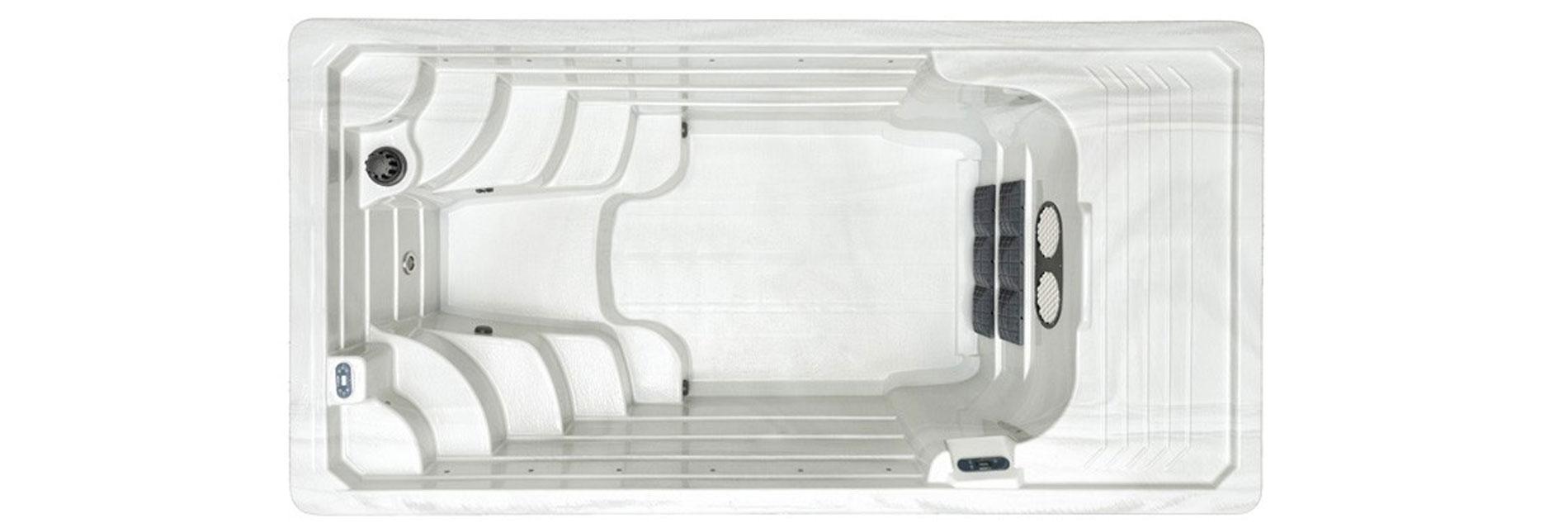Spa de nage SUNRISE SWIM SPA 1500 STD avec double flux de nage à contre courant.