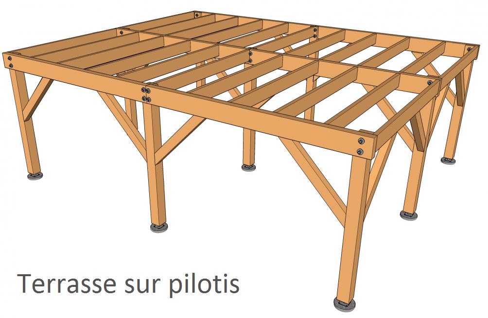 Terrasse sur pilotis