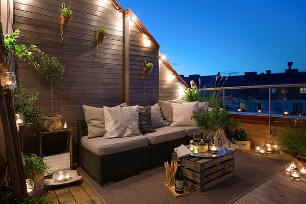 decoration scandinave terrasse nuit appartement suede piscine et jardin. Black Bedroom Furniture Sets. Home Design Ideas