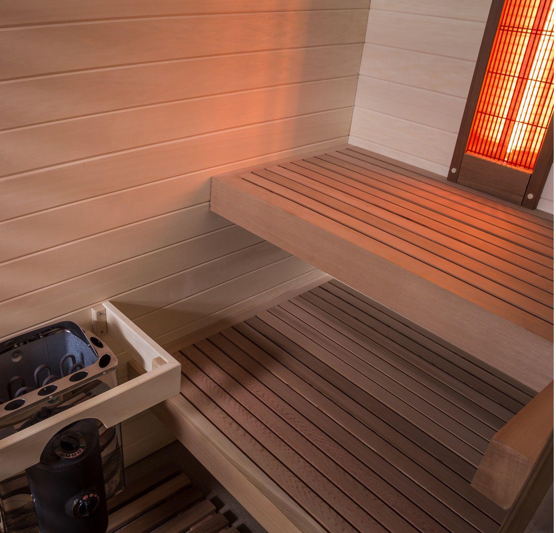 Sauna sahara combi - Sauna traditionnel et Infrarouge - Piscine & Jardin - Nord pas de calais picardie
