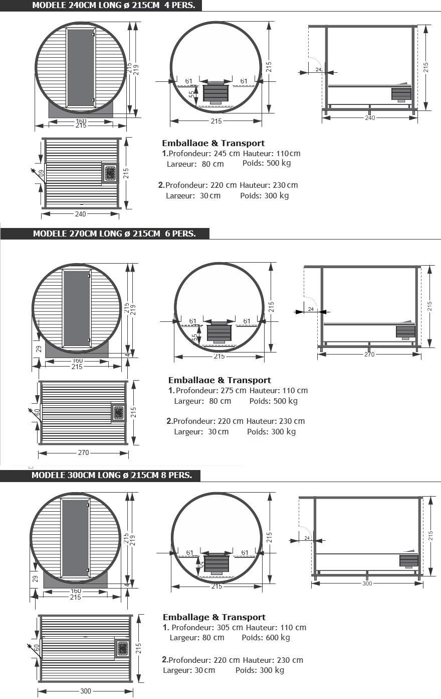 dimension sauna barrel piscine et jardin