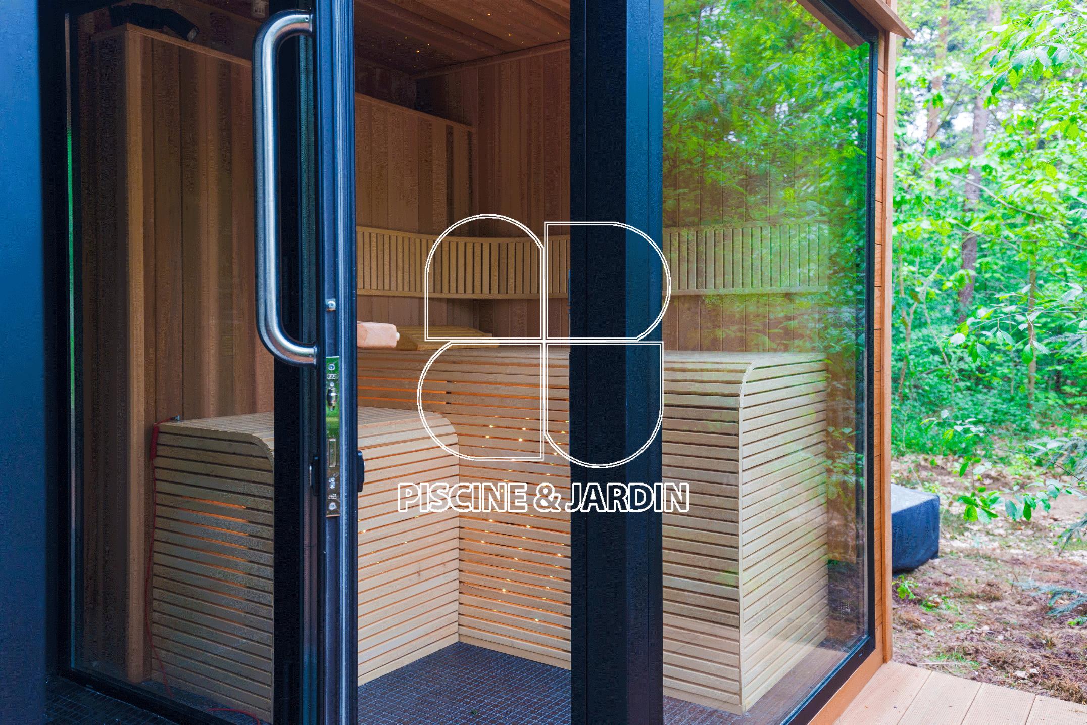 Devanture de sauna en revêtement bois