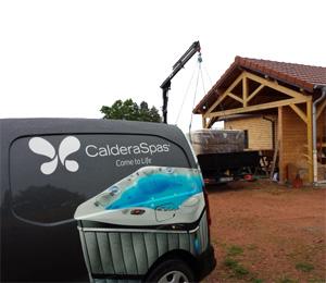 Livraison et/ou reprise de votre spa dans le nord par Caldera