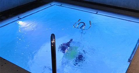Construction d'une piscine bien-être avec vélo en intérieur - PISCINE ET JARDIN ARRAS 62