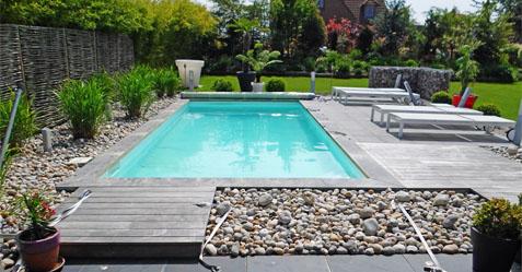 Projet de création d'une piscine avec ambiance nature - Piscine et Jardin LILLE