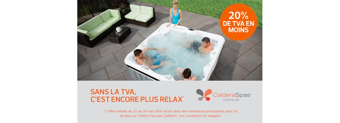 Promotion de spa CALDERA chez Piscine et Jardin